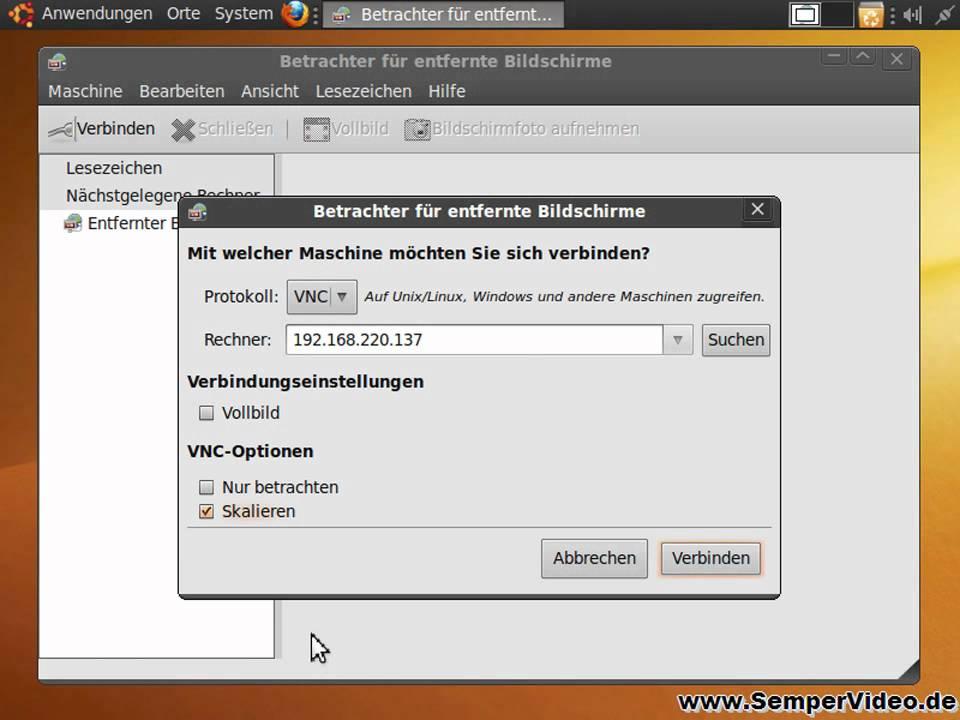 Ubuntu Fernsteuern