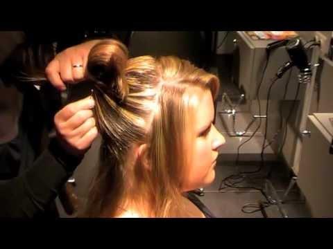 Flair coiffure pour les f tes chignon fleuri youtube - Coiffure pour communion ...