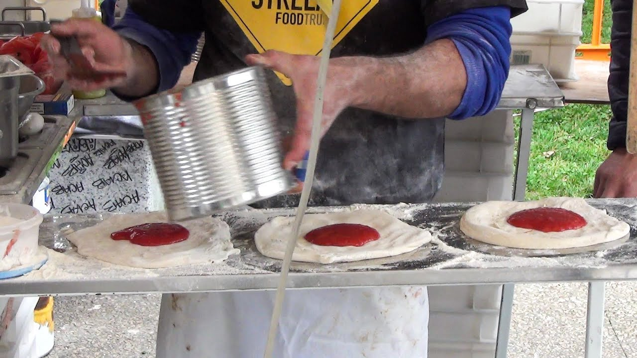 Preparing And Cooking Fried Pizza Italian Street Food YouTube - The 12 best streets foods in italy