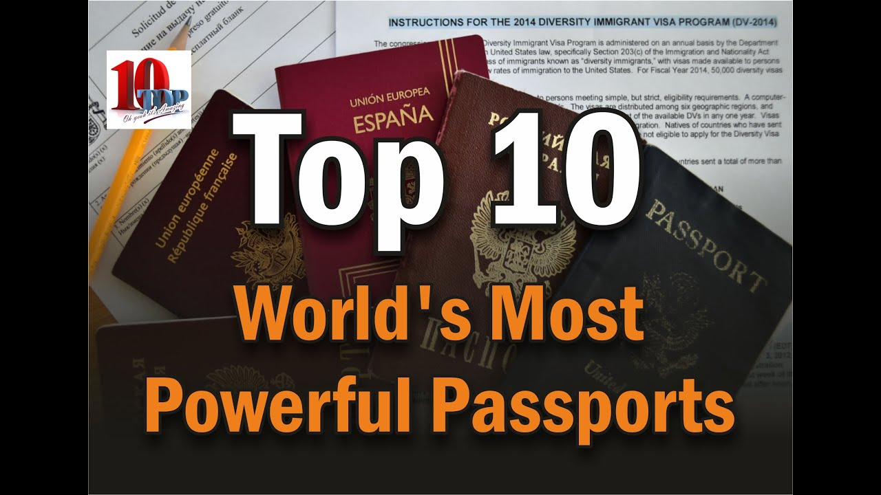 Top Passport In The World YouTube - World most powerful country list 2014