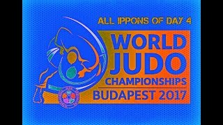 All ippons in day 4 of World Judo Championships Budapest 2017