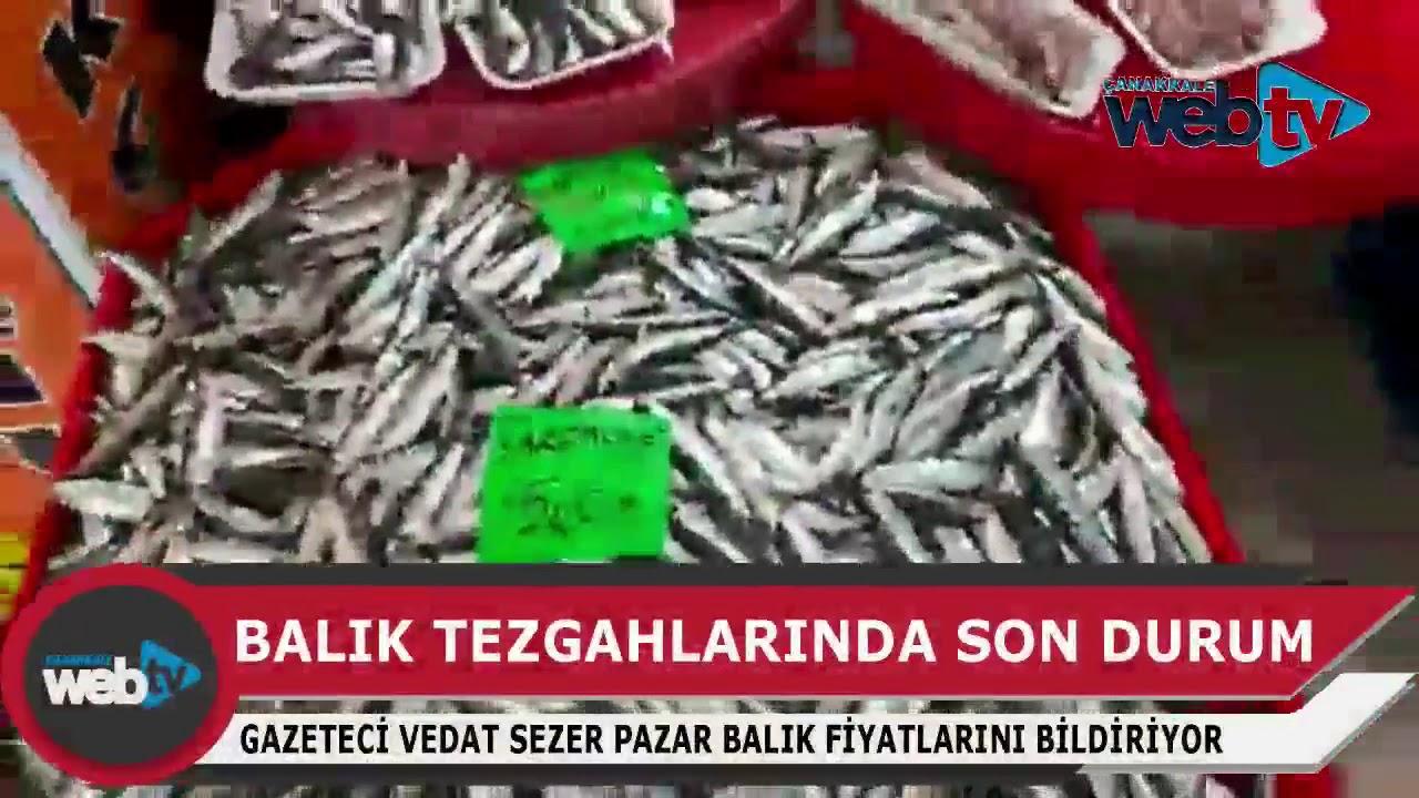 Çanakkale'de balık fiyatları