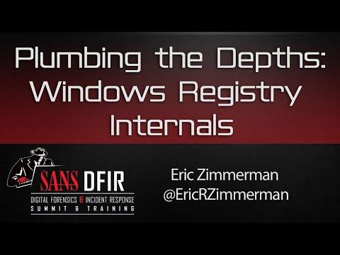 DFIR Summit 2016: Plumbing the Depths - Windows Registry Internals