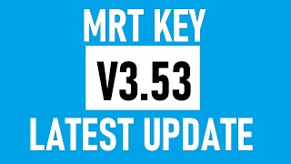 MRT Dongle Latest Setup V3.53 | MRT Key Update
