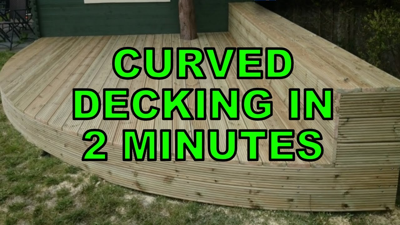 How To Build Curved Decking in 2 minutes - YouTube