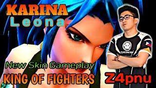 KAR NA Leona K NG OF F GHTERS New Skin Gameplay BY  Z4pnu  Mobile Legend Bang Bang