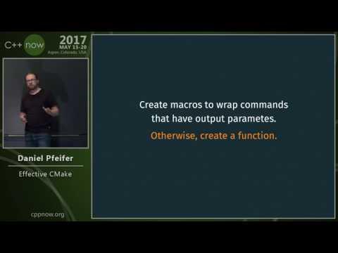 C++Now 2017: Daniel Pfeifer �ctive CMake