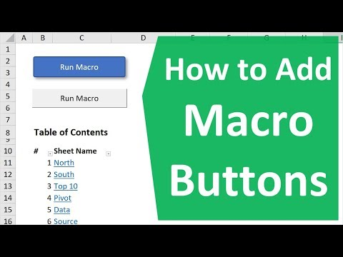 How to Create Macro Buttons in Excel Worksheets - Excel Campus