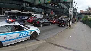 NYPD EMERGENCY stuck in traffic jam