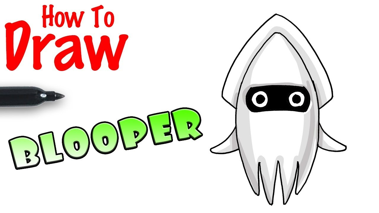How To Draw Bloopers Super Mario Kart Youtube