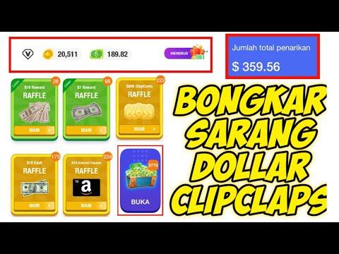 Bongkar Sarang Dollar Di Aplikasi ClipClaps - Cara Cepat Dapat Banyak Dolar Tanpa Nuyul!!