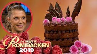 Saftiger XXL-Schokoladenkuchen: Evi überzeugt | Verkostung | Das große Promibacken 2019 | SAT.1 TV
