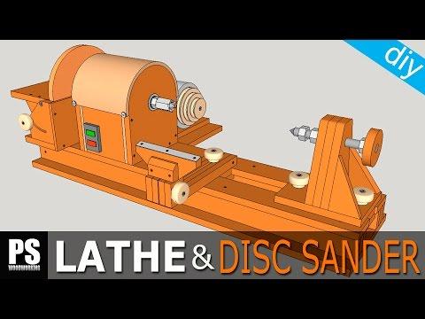 Homemade Lathe & Disc Sander Part1