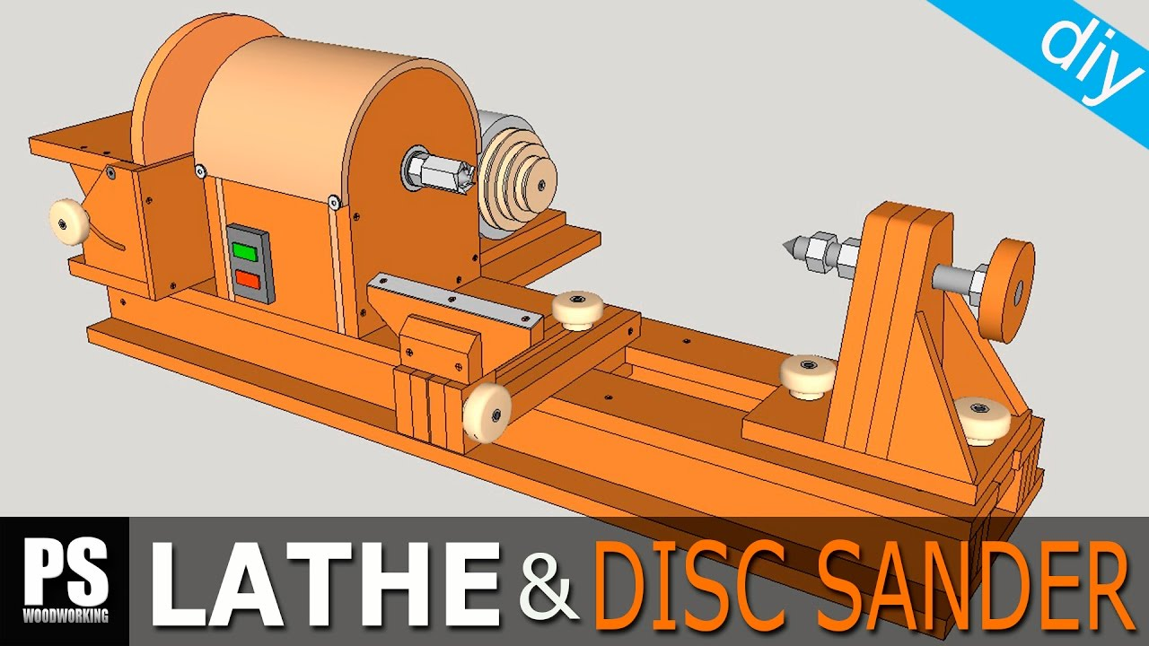 Homemade Lathe & Disc Sander Part1 - YouTube on homemade thickness sander plans, homemade drum sander parts kits, homemade pipe sander plans, homemade lathe compound feed, homemade wood sander machine for, homemade edge sander plans, homemade spindle sander plans,