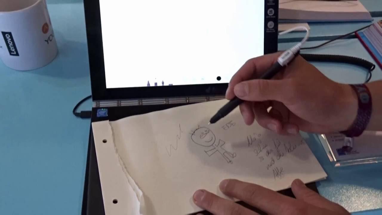 Lenovo - Yoga Book pen demo (ENG) - YouTube