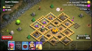 CLASH OF CLANS | SINGLE PLAYER MAPS | MAP #35 | Faulty Towers