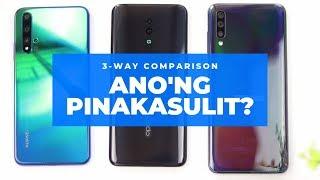 Huawei nova 5T vs Oppo Reno vs Samsung A70: Sino Ang Pinakasulit?