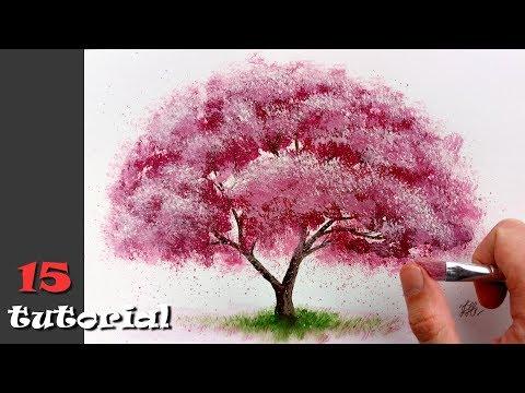 Как красиво нарисовать дерево красками