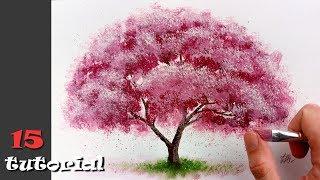 Как нарисовать дерево за 20 минут!? Очень простая и необычная техника.