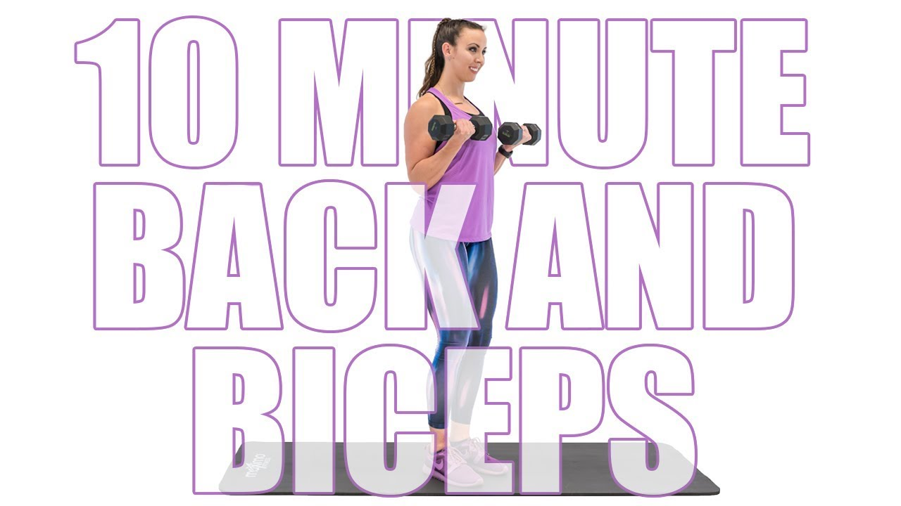 10 Minute Back And Biceps At Home Workout