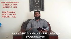 ANSI / OSHA Standards for PPEs Selection by Askmaaz