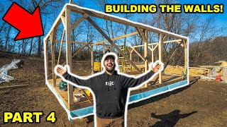 Building a OFF-GRID CABIN in My BACKYARD!!! (Part 4)