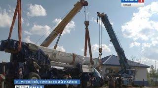 На Ямале со дна речного подняли тяжеловесный кран массой в 72 тонны