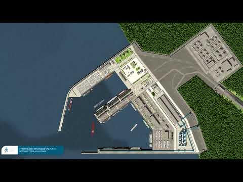 Проект строительства глубководного района морского порта Архангельск
