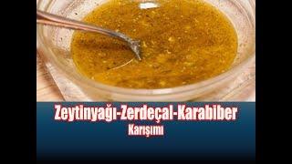 Zeytinyağı-Zerdeçal-Karabiber Karışımı  /  Zeytinyağı Zerdeçal Karabiber