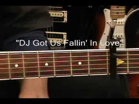 Usher DJ GOT US FALLIN' IN LOVE Pitbull Guitar Lesson EASY Capo 3