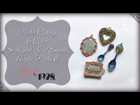 Color on Pewter Castings:  Swellegant, Iced Enamels, Paints and B'sue by 1928