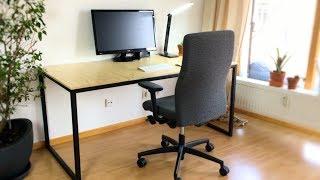 Schreibtisch selber bauen (Industrial Style-Reihe | Teil 3)