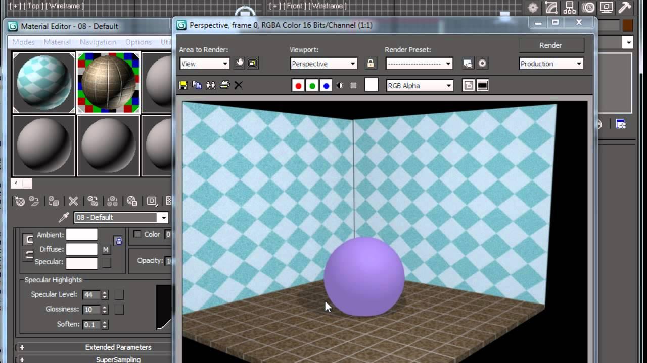 material de espejo y vidrio 3d studio max youtube
