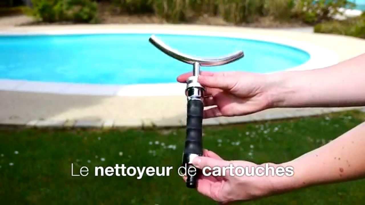 Lot tige et nettoyeur de cartouches youtube for Cartouche waterair