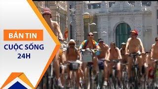 Tây Ban Nha: Khỏa thân đạp xe vì môi trường | VTC1