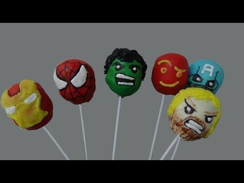 Cake balls pops super heroes marvel