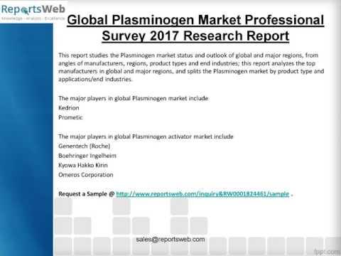 Share Analysis of Global Plasminogen Industry 2017 Report