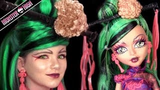 Jinafire Long Monster High Doll Costume Makeup Tutorial For Cosplay Or Halloween