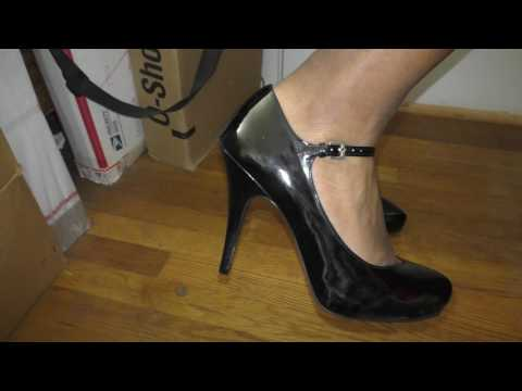 A Man In Heels - Kelly & Katie Black Patent Mary Janes