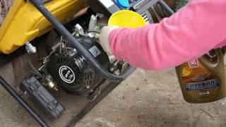 Меняем масло в бензогенераторе  Change the oil in the gasoline generator