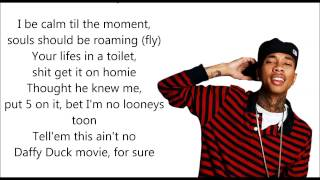 Lay You Down - Tyga Ft. Lil Wayne [Lyrics]