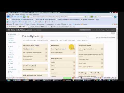 WordPress: Thesis Theme - How to Add New Page Nav Menu