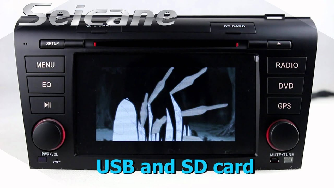 hd touch screen 2007 2008 2009 mazda 3 aftermarket stereo sat nav with bluetooth music 3g wifi [ 1280 x 720 Pixel ]