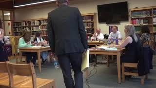 Rhinebeck Board of Education meeting 6-12-18