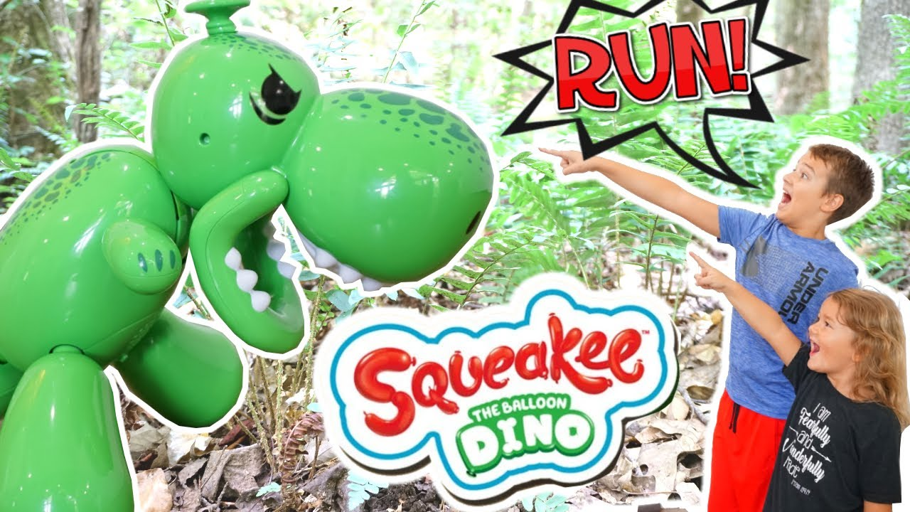 We found a Giant Dinosaur Squeakee Balloon in the Jungle! We have to Tame it!