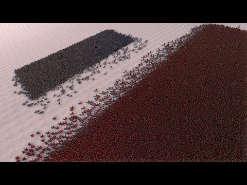 2.000 GOLDEN KNIGHTS vs 50.000 SPARTANS - Ultimate Epic Battle Simulator