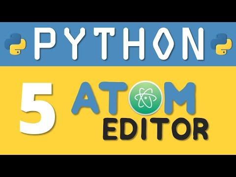 How To Setup Atom Editor For Python Programming | RebellionRider