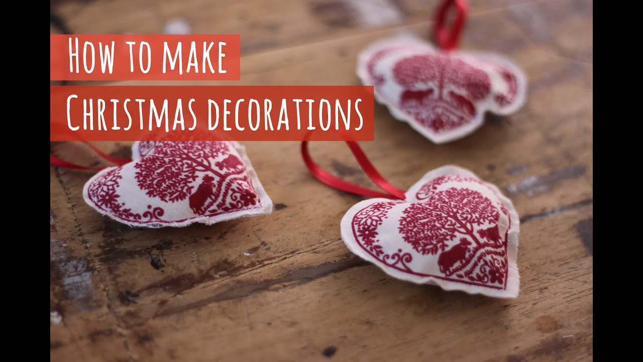 How to make fabric Christmas decorations - YouTube