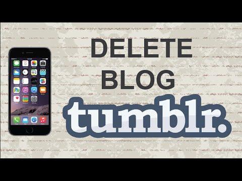 Вопрос: Как удалить блог на Tumblr?