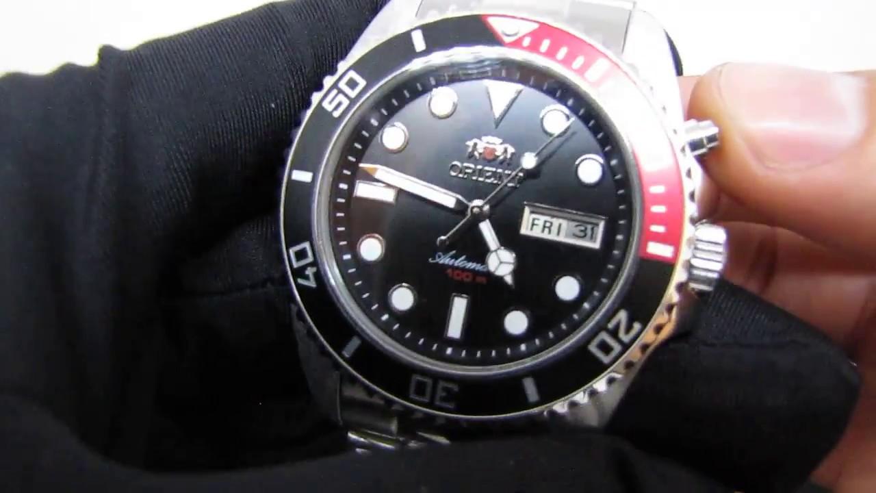76ee9a7a98b Relógio Orient Automático 469SS068 estilo Diver Orient Ray Coke ...